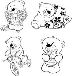 A set of bears vector image
