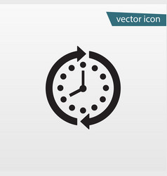 arrow clock icon circle time trendy stop vector image