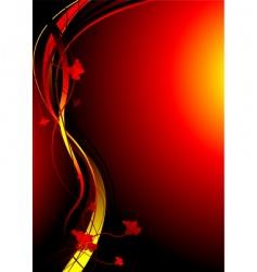 autimn fire vector image