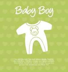 baboy card vector image