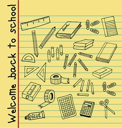 back to school note paper vector image