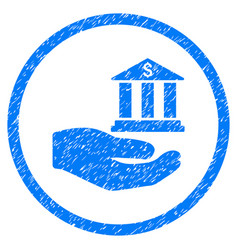 Bank service hand rounded grainy icon vector