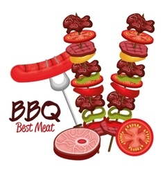 barbecue time best meat vector image