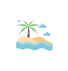 beach graphic design template isolated vector image