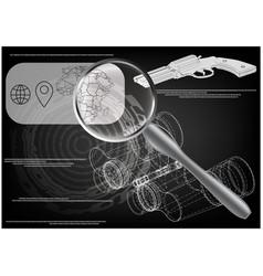 binoculars on a black vector image