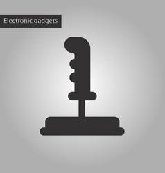 Black and white style icon joystick vector
