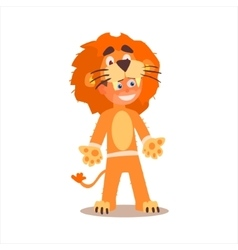 Boy Desguised As Lion vector