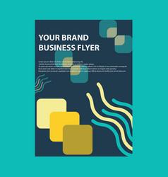 Brochure template design background vector