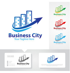 Business city logo designs vector