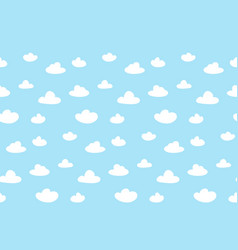 Cartoon clouds background blue sky seamless vector