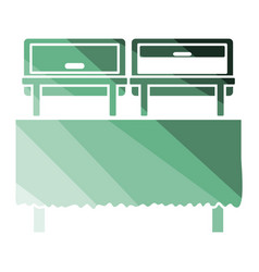 Chafing dish icon vector