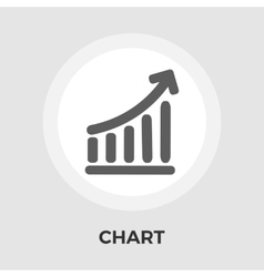 Chart flat single icon vector image