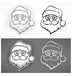 Cheerful Santa face vector image