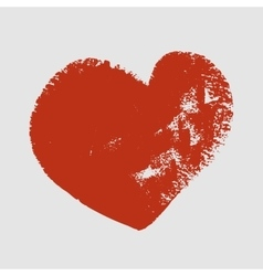 Cliche of red heart on a white background vector image