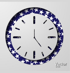 Clock icon flat design with long shadow vector