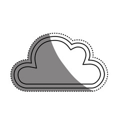 cloud abstract draw vector image