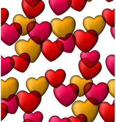 Colorful love seamless background of heart bubbles vector