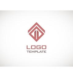Construct luxury concept abstract logo template vector
