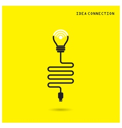 Creative light bulb with wifi connection icons vector