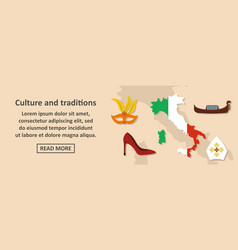 culture and traditions italy banner horizontal vector image