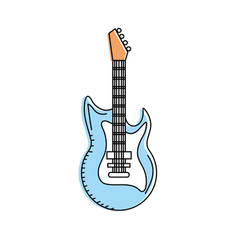 Electric guitar musical instrument to play music vector