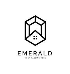 emerald logo concept creative minimal design vector image