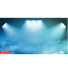 empty blue studio background with spotlights vector image
