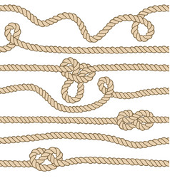 endless nautical rope pattern hand drawn vector image