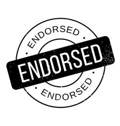 endorsed rubber stamp vector image