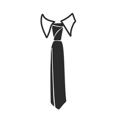Fashion necktie icon simple style vector