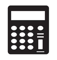 Flat black calculator icon vector