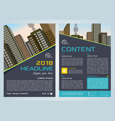 flyer corporate business with blue lines vector image