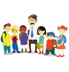 Group students vector