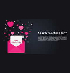 happy valentines day flat vector image