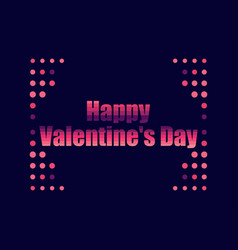 happy valentines day in 80s retro style text in vector image