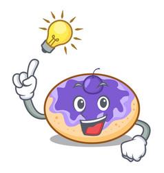 Have an idea donut blueberry mascot cartoon vector