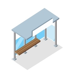 Isometric Bus Stop vector