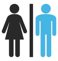 Lavatory Persons Flat Pictogram vector image