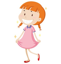 Little girl wearing clean clothes vector