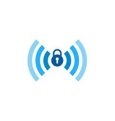 Lock wifi logo icon design vector