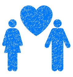 love couple grunge icon vector image