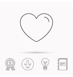 Love heart icon Life sign vector