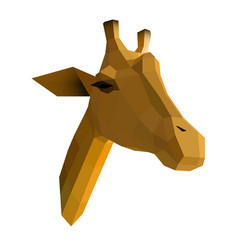 low poly giraffe vector image