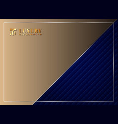luxury invitation blue background template vector image