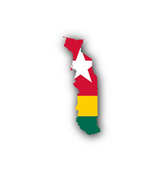 map and flag of togo vector image