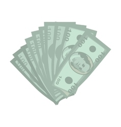Money in Flat Style Design vector image