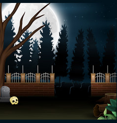 Outdoor view with the full moon background vector