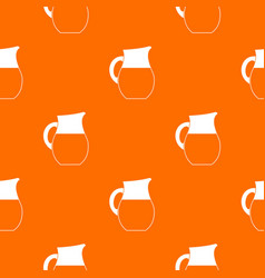 Pitcher of milk pattern seamless vector