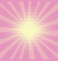 pop art background the rays of the sun of yellow vector image