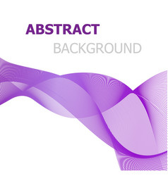Purple line wave abstract background vector